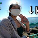 【ドラクエウォーク】女勇者は海と関西国際空港が見える公園を冒険する