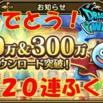 【Dragon Quest Walk】100万&300万DLおめでとうふくびき20連結果…