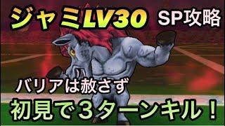 【ドラクエウォーク】ジャミLV30 SPのみで初見3ターン討伐【ドラゴンクエストウォーク】